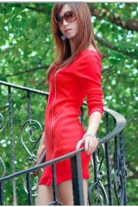 Robe rouge extensible